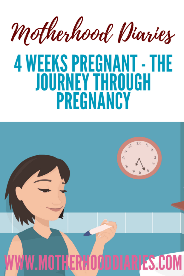 4 weeks pregnant - The journey through pregnancy - motherhooddiaries