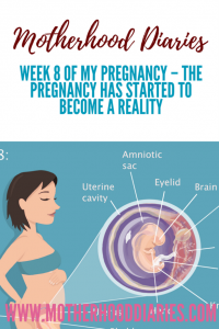 Week 8 of My Pregnancy – The pregnancy has started to become a reality - motherhooddiaries