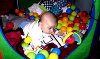 Aron messing about in his den - motherhooddiaries