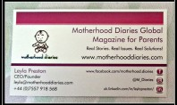 Motherhood Diaries Vistaprint Business Cards