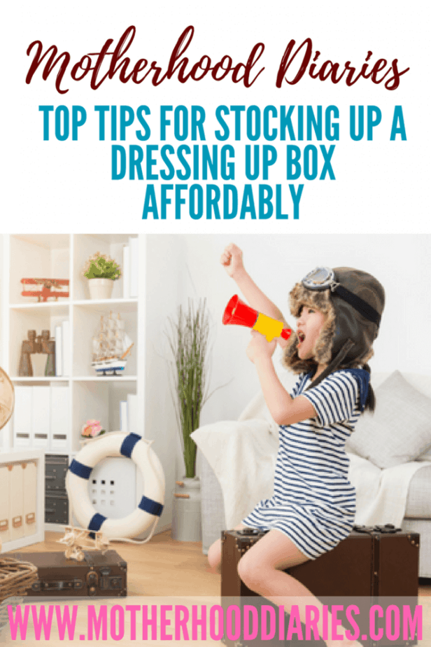 Top Tips for Stocking up a Dressing up Box Affordably #imagination #dressing up #superhero #costumes #kidsfun - motherhooddiaries.com