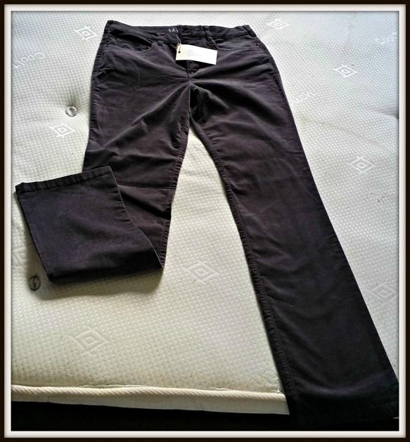 Mistral Clothing Moleskin Bootcut Ladies Jeans in Plum Kitten