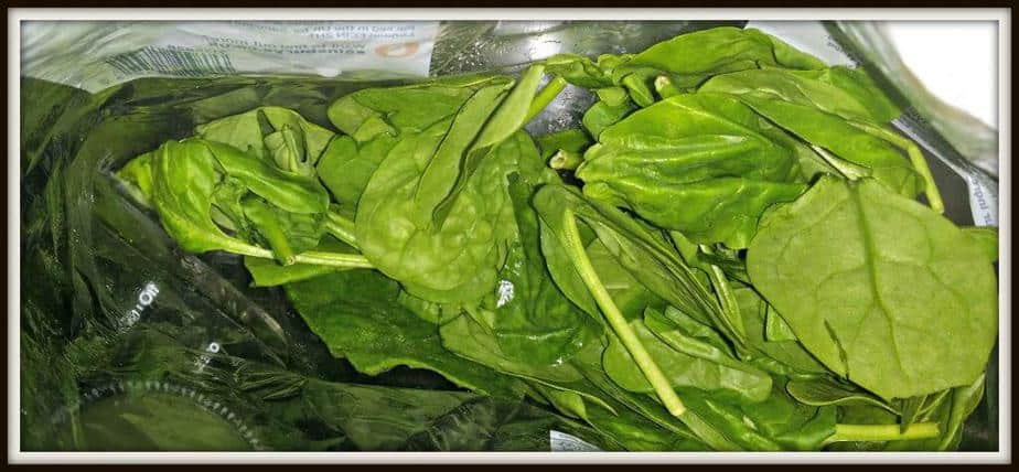 Small bunch of spinach finely chopped