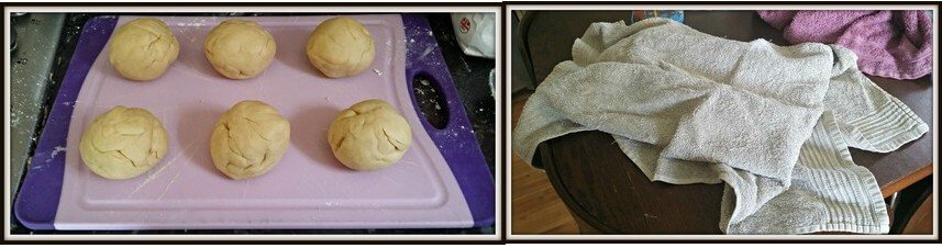 Split the dough into 6 equal balls and leave to rest under a tea towel for about an hour.