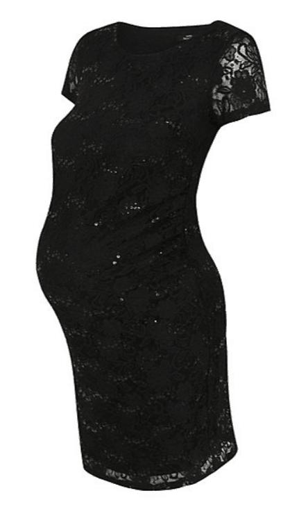 Black Sequin lace dress