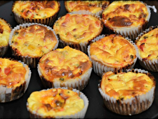 Riverford for Organix No Junk Lunchboxes Mini Pepper & Sweetcorn Tarts Recipe