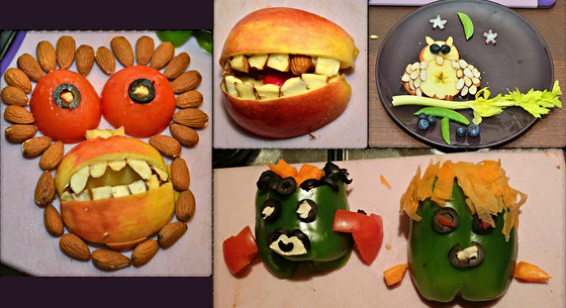 Spooktacular Fruit and Veg Halloween Creations