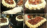 Date & Grape Chocolate Cake