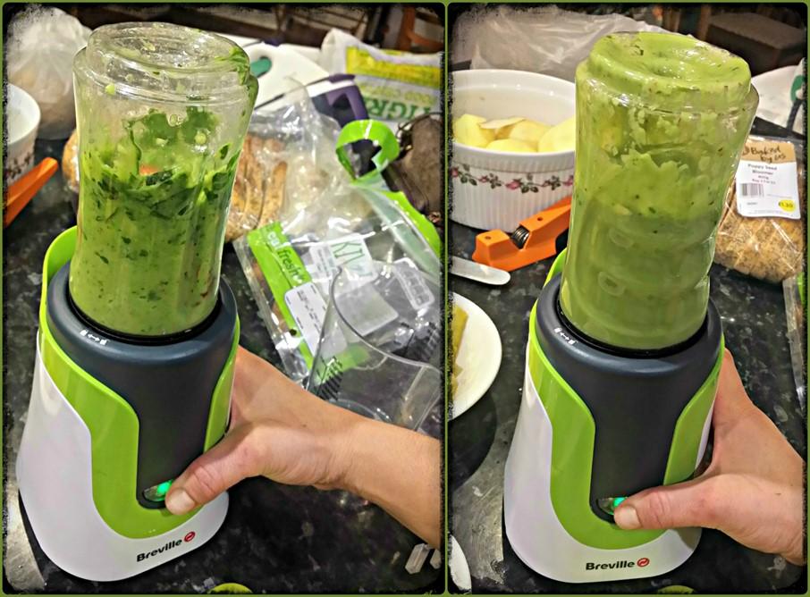 Green smoothie - Breville blend active- motherhooddiaries