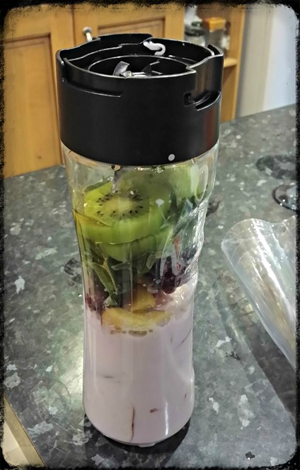 5-a-day smoothie - Breville blend active - motherhooddiaries