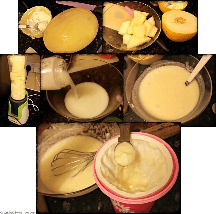 Creamy melon slushy