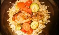 Honey and BBQ chicken marinade with vegetables and rice - motherhooddiaries.com