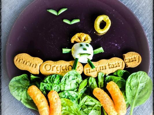 Nursery Rhyme Finger Food Plate - Humpty Dumpty - Organix with motherhooddiaries.com