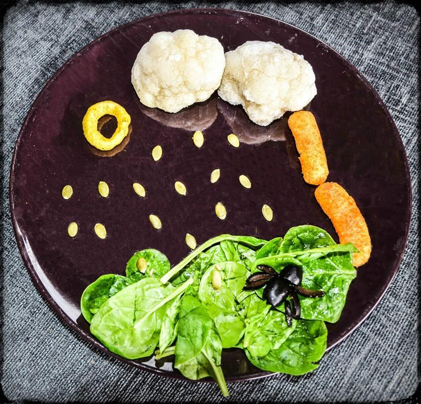 Nursery Rhyme Finger Food Plate - Incy Wincy Spider - Organix with motherhooddiaries.com