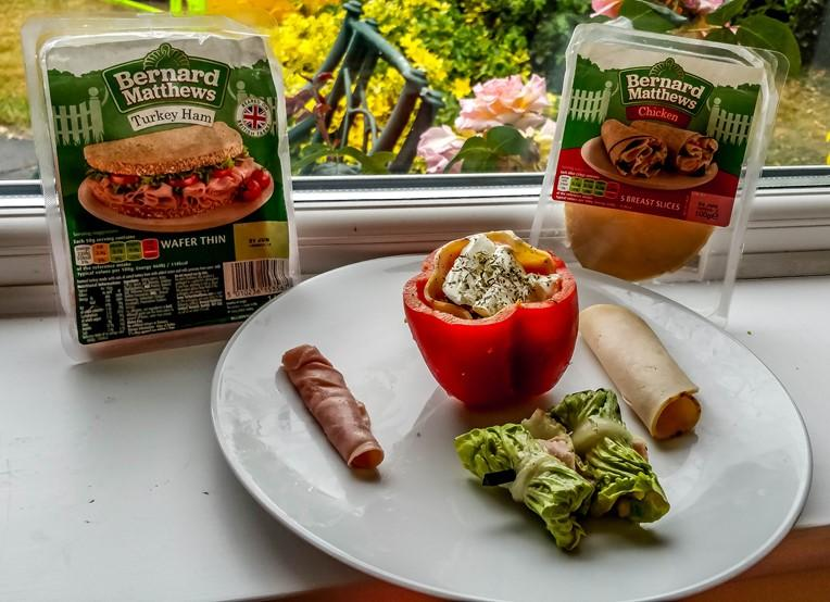 Bernard Matthews 'Breadless Lunches' #Bootifulideas - Stuffed Bell Pepper and Lettuce Wrap - motherhooddiaries.com