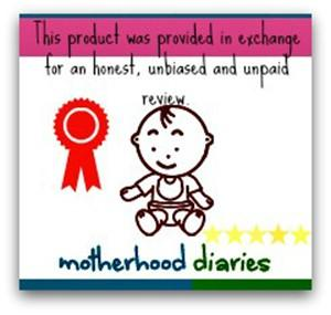 Product Review Disclaimer Badge - motherhooddiaries.com