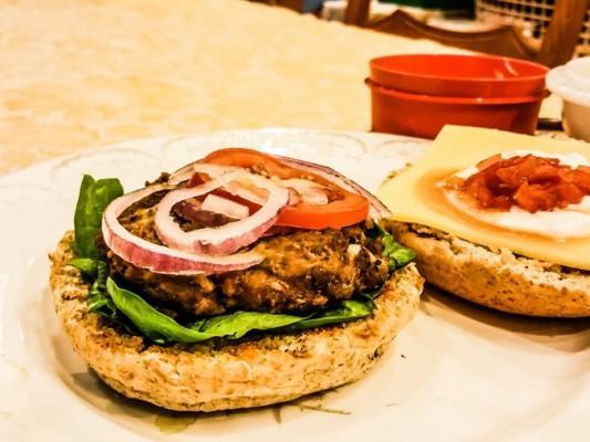 Welsh Lamb Burger - motherhooddiaries.com