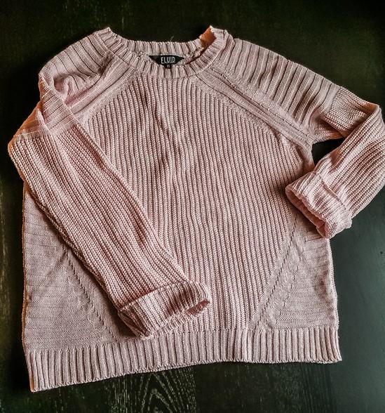 Fluid Women's Sweater Pink in Size 10 - motherhooddiaries.com