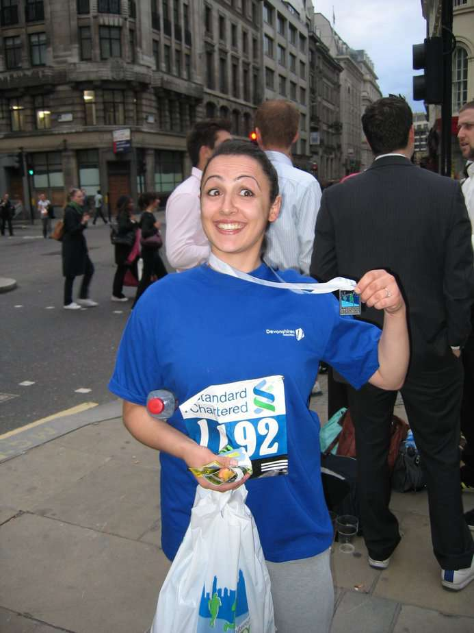 Completing a 5k for the Cityrace in 2006