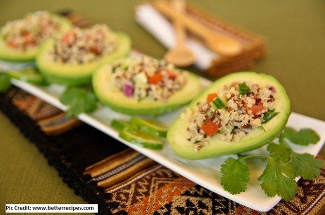 Quinoa stuffed avocados - 10 stuffed avocado recipes - motherhooddiaries.com