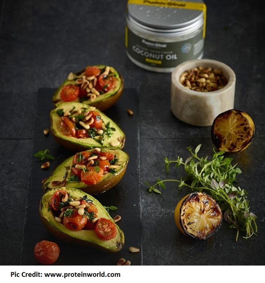 Grilled avocado with herbs - 10 stuffed avocado recipes - motherhooddiaries.com
