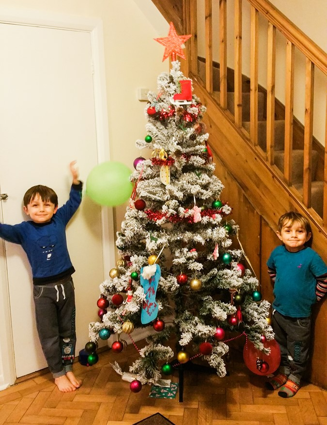 Decorating the Christmas tree - motherhooddiaries.com