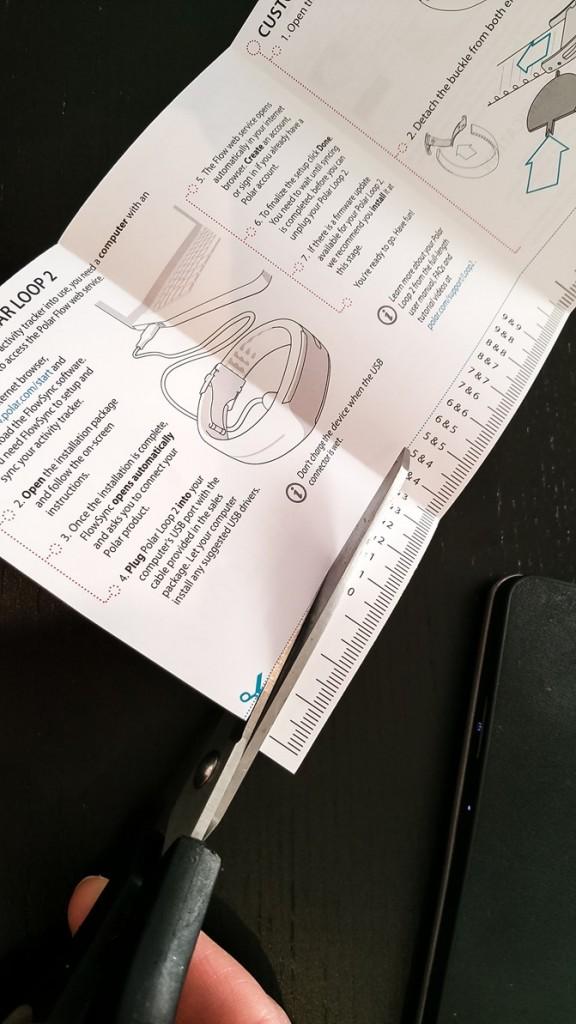 Polar Loop 2 measuring tape manual - motherhooddiaries.com