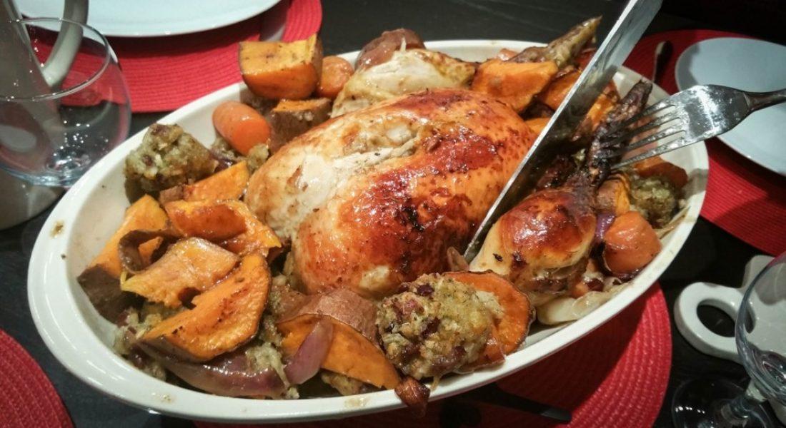 5 ingredient roast chicken dinner - motherhooddiaries