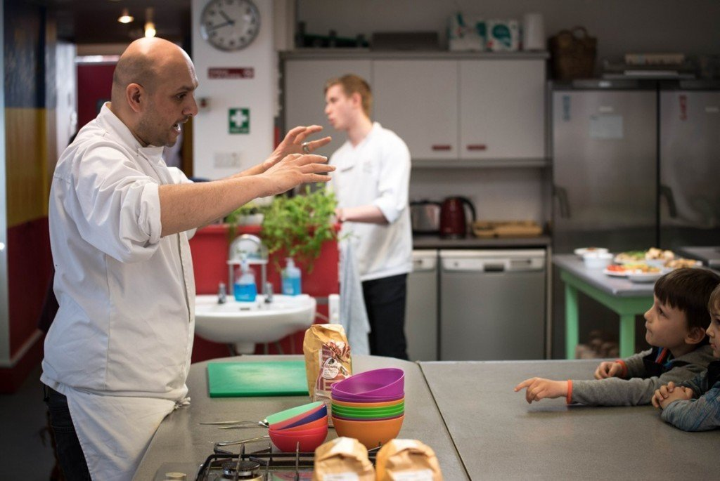 Chef John teaching - Quorn Kids Cookery School - motherhooddiaries.com