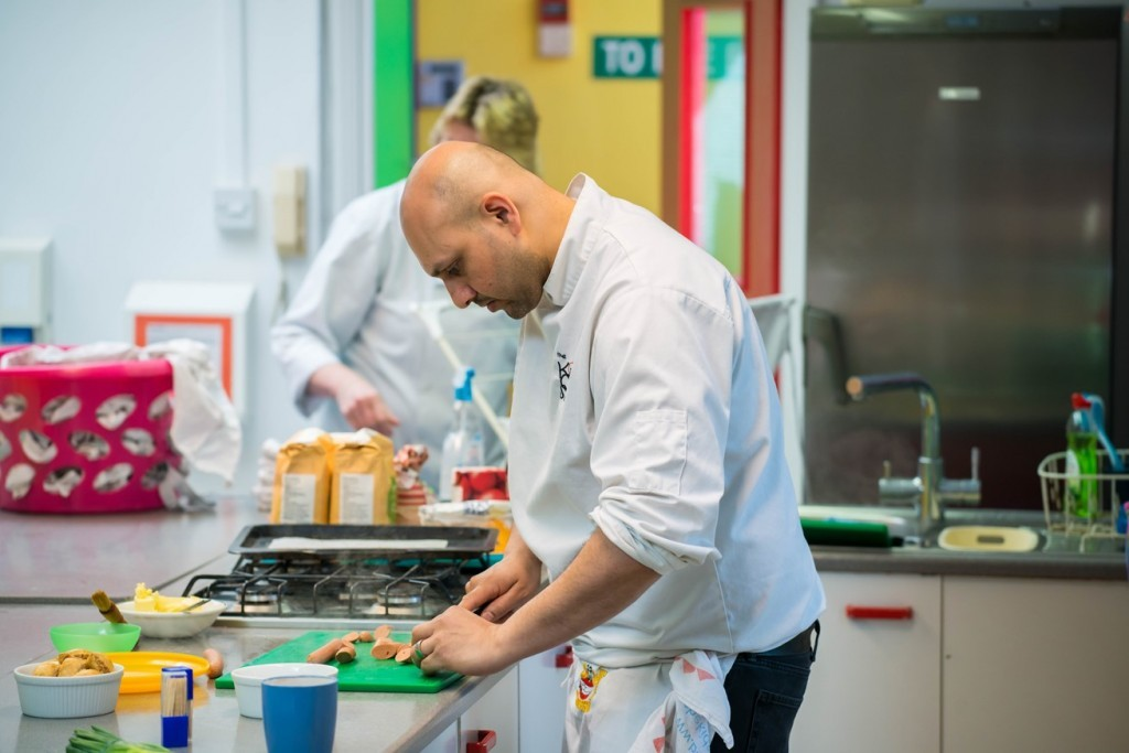 Chef John preparing Quorn ingredients - Kids Cookery School - motherhooddiaries.com
