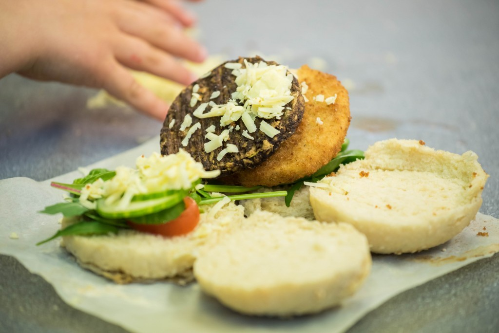 Quorn burger- Quorn Kids Cookery School - motherhooddiaries.com