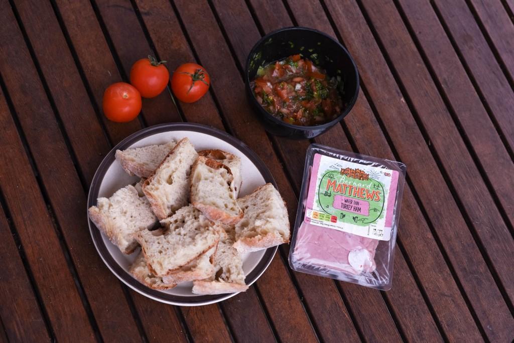 Bernard Matthews Brunch Challenge - Turkey Ham Bruschetta - motherhooddiaries.com