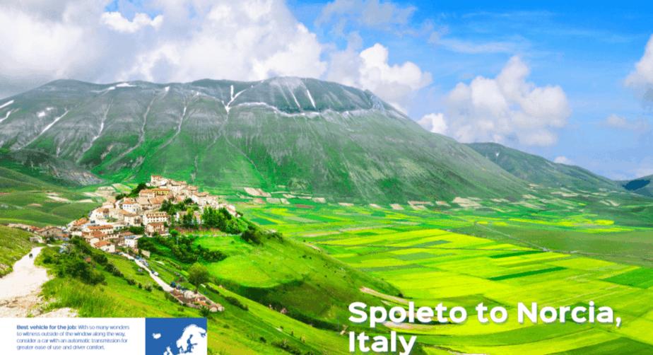 Spoleto to Norcia, Italy