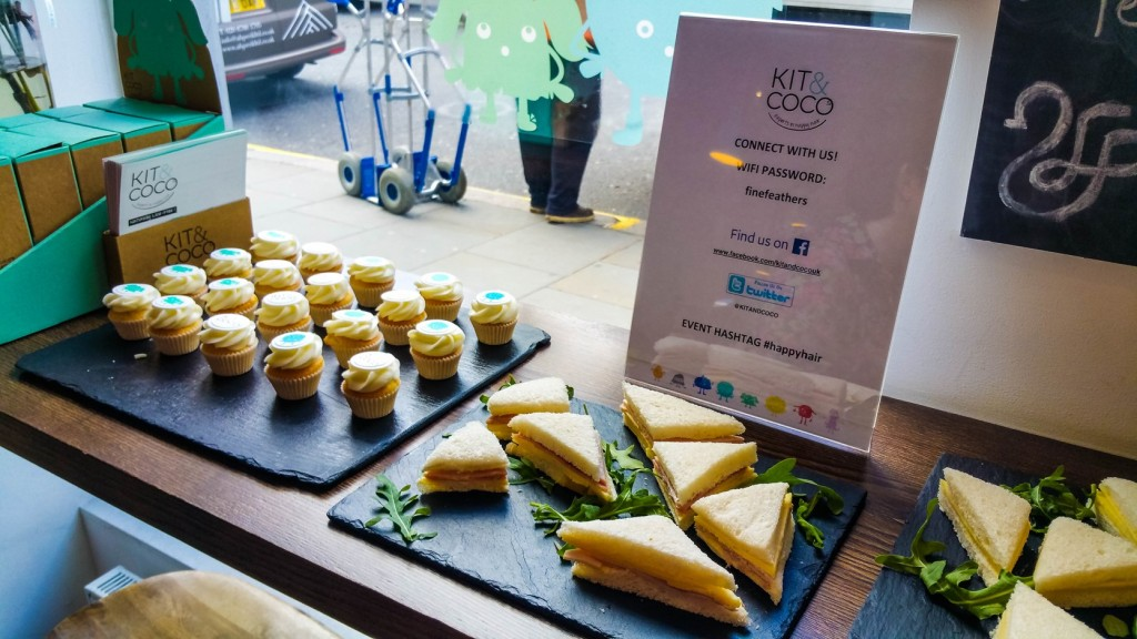 Kit & Coco launch event cupcakes and sandwiches - motherhooddiaries