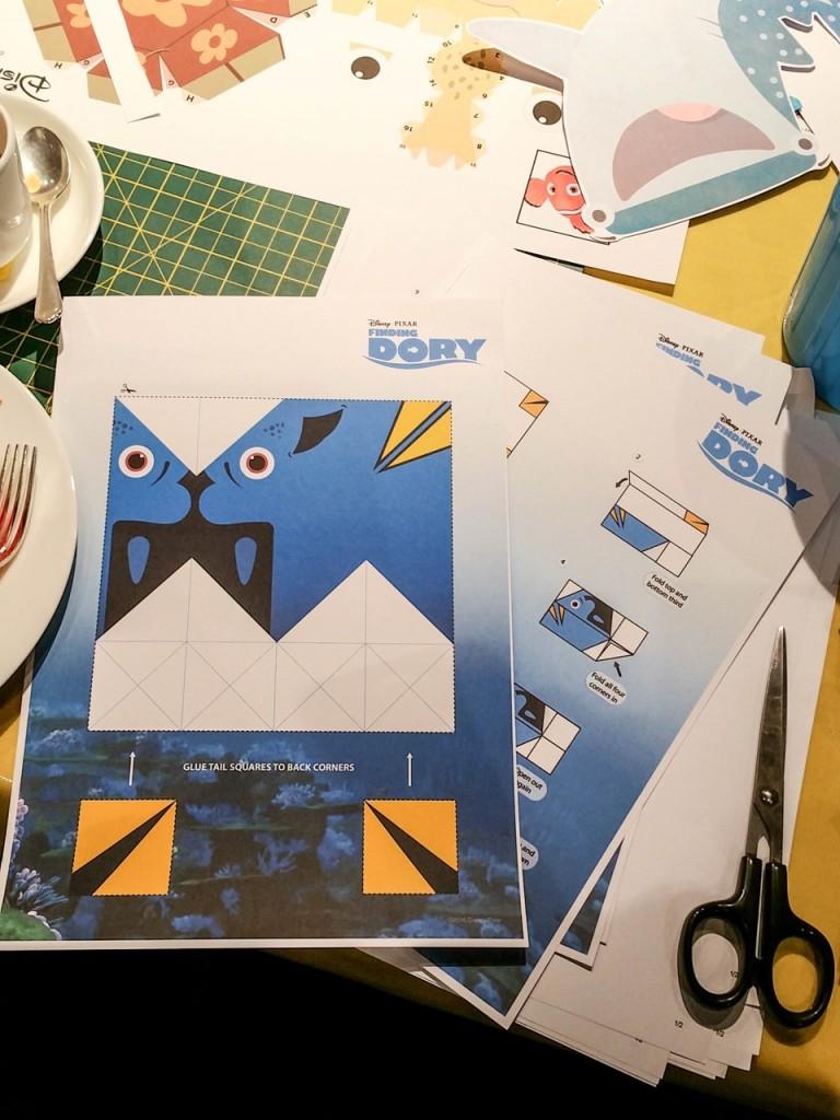Dory origami stencil - Disney store #PrintingDory Epson event - motherhooddiaries