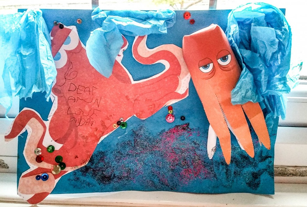 Undersea mural for brother from Disney store #PrintingDory Epson event - motherhooddiaries