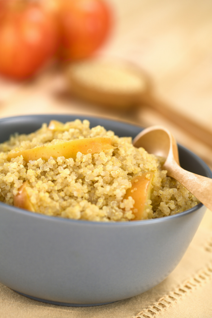 Bowl of quinoa for lunch - motherhooddiaries