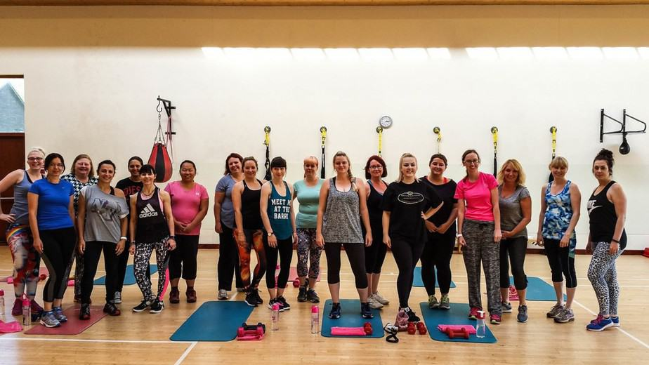 The blogger crew - boot camp, champneys springs, lights by TENA blogger event #noonetoldme #oooopsmoments