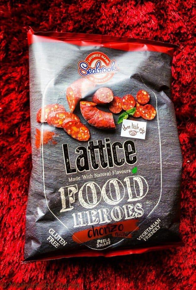 Seabrook Lattice Food Heroes Chorizo Flavour - July 2016 Degustabox - motherhooddiaries