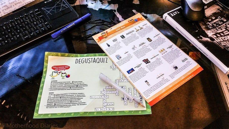 Degustaquiz - July 2016 Degustabox - motherhooddiaries
