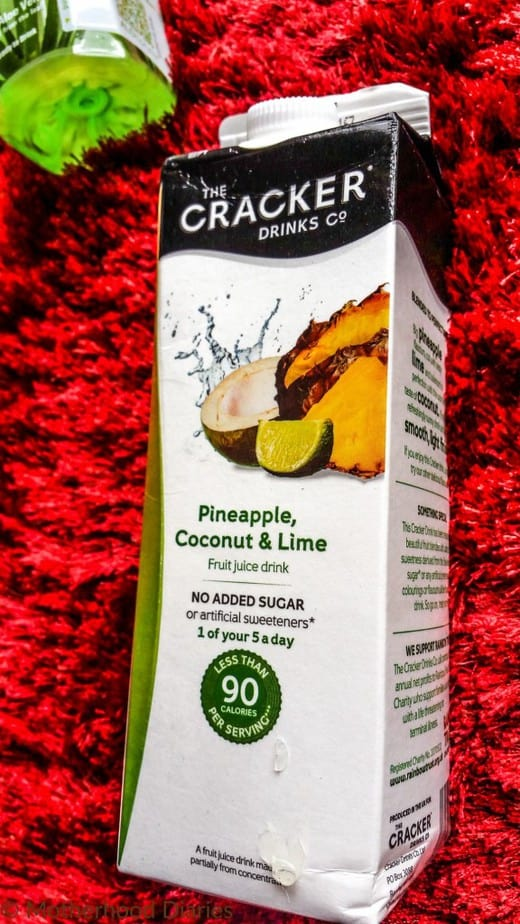 Cracker Drinks Co Ltd - Pineapple, Coconut & Lime - July 2016 Degustabox - motherhooddiaries
