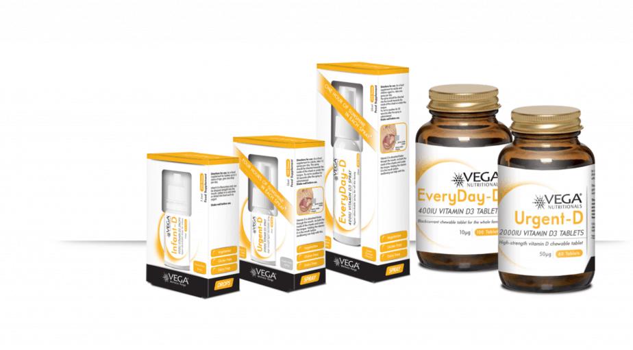 Vega Vitamins VItamin D product range - motherhooddiaries