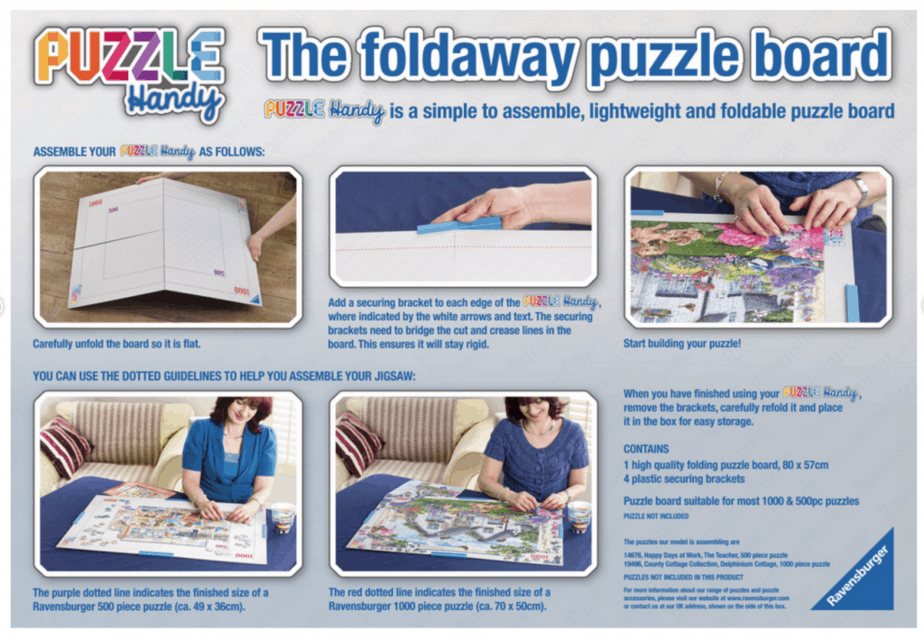 Puzzle Handy Foldaway Puzzle Board instructions - motherhooddiaries