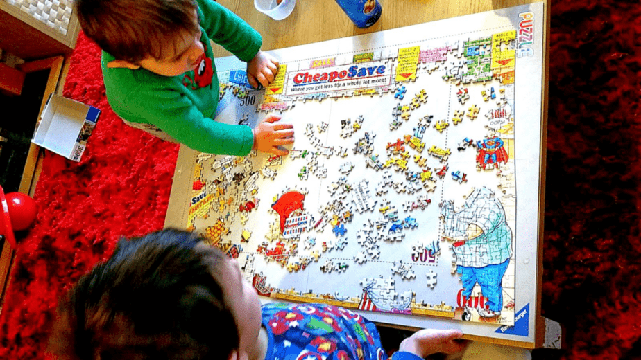 Ravensburger Supermarket Puzzle - motherhooddiaries
