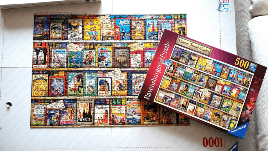 Ravensburger - Vintage Travel 500pc - motherhooddiaries