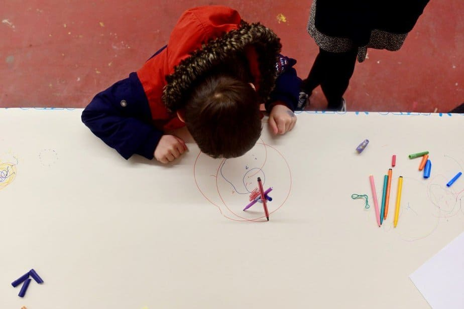 Learning to demystify code with children with the Institute of Imagination's first ever 'Lab Live - Recode' exhibition - Watch the drawbot create circles - motherhooddiaries