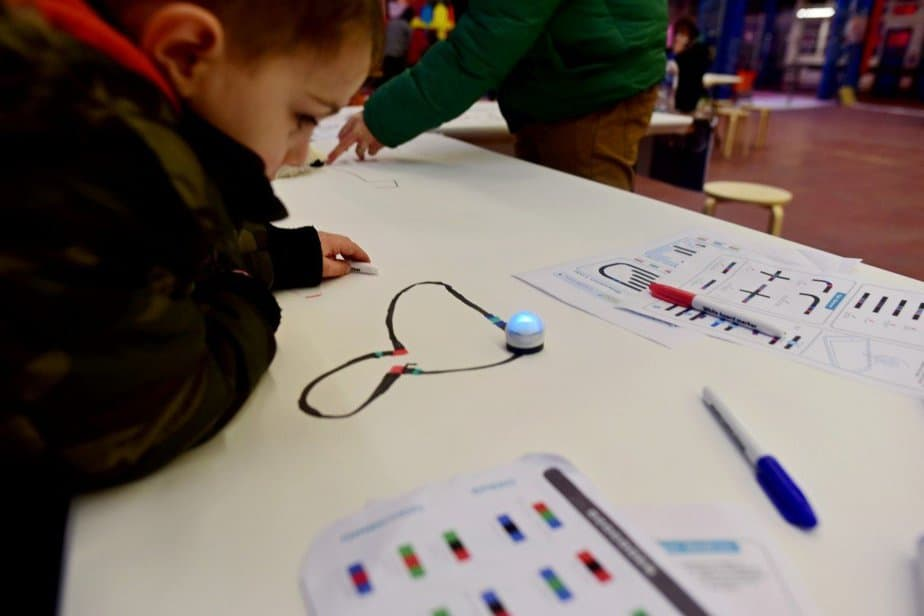 Learning to demystify code with children with the Institute of Imagination's first ever 'Lab Live - Recode' exhibition - Ozobots - motherhooddiaries