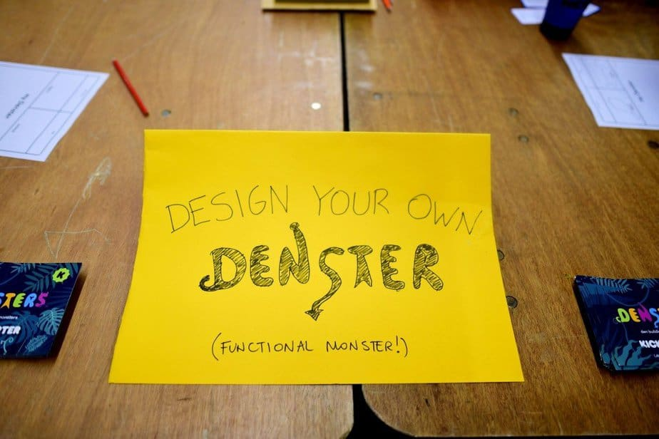 Learning to demystify code with children with the Institute of Imagination's first ever 'Lab Live - Recode' exhibition - Design your own Denster