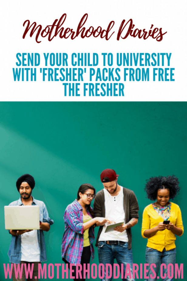 Send your child to university with 'Fresher' Packs from Free the Fresher - www.motherhooddiaries.com