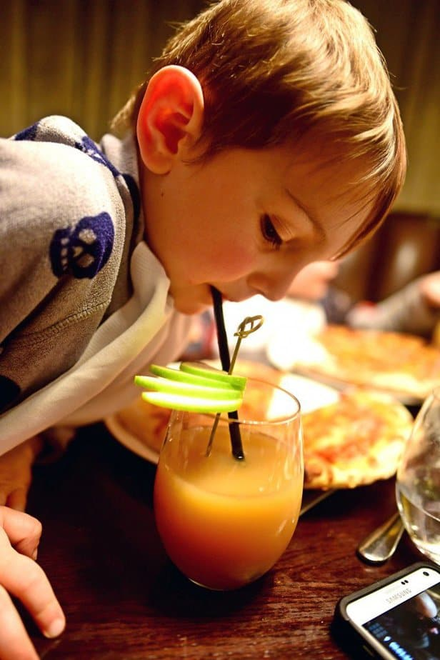 Aidan sipping juice - Arch London - motherhooddiaries